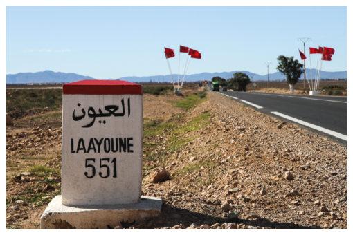 """Carte postale """"Vers Laayoune, Maroc"""" - Partis pour"""