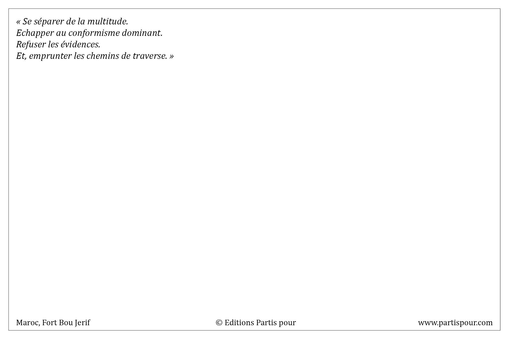 """Verso Carte postale """"Lahcen, chasseur de serpents"""" - Partis pour"""