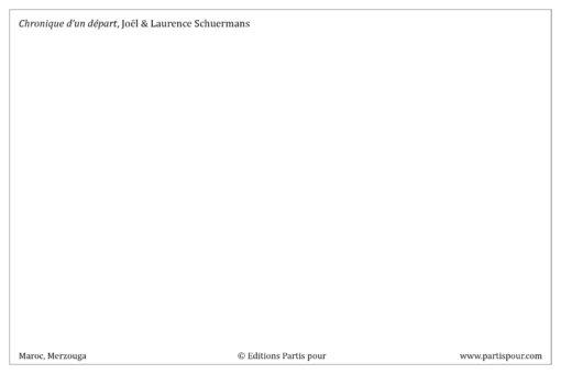 """Carte postale """"Chronique d'un départ"""" - Partis pour"""