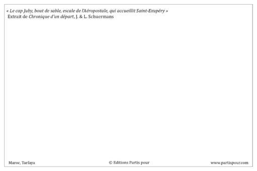 "Carte postale ""Tarfaya"" - Partis pour"