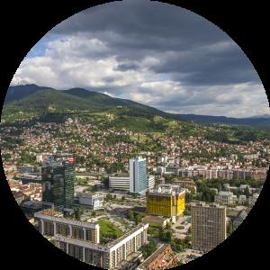 Partis pour Sarajevo en Bosnie-Herzégovine