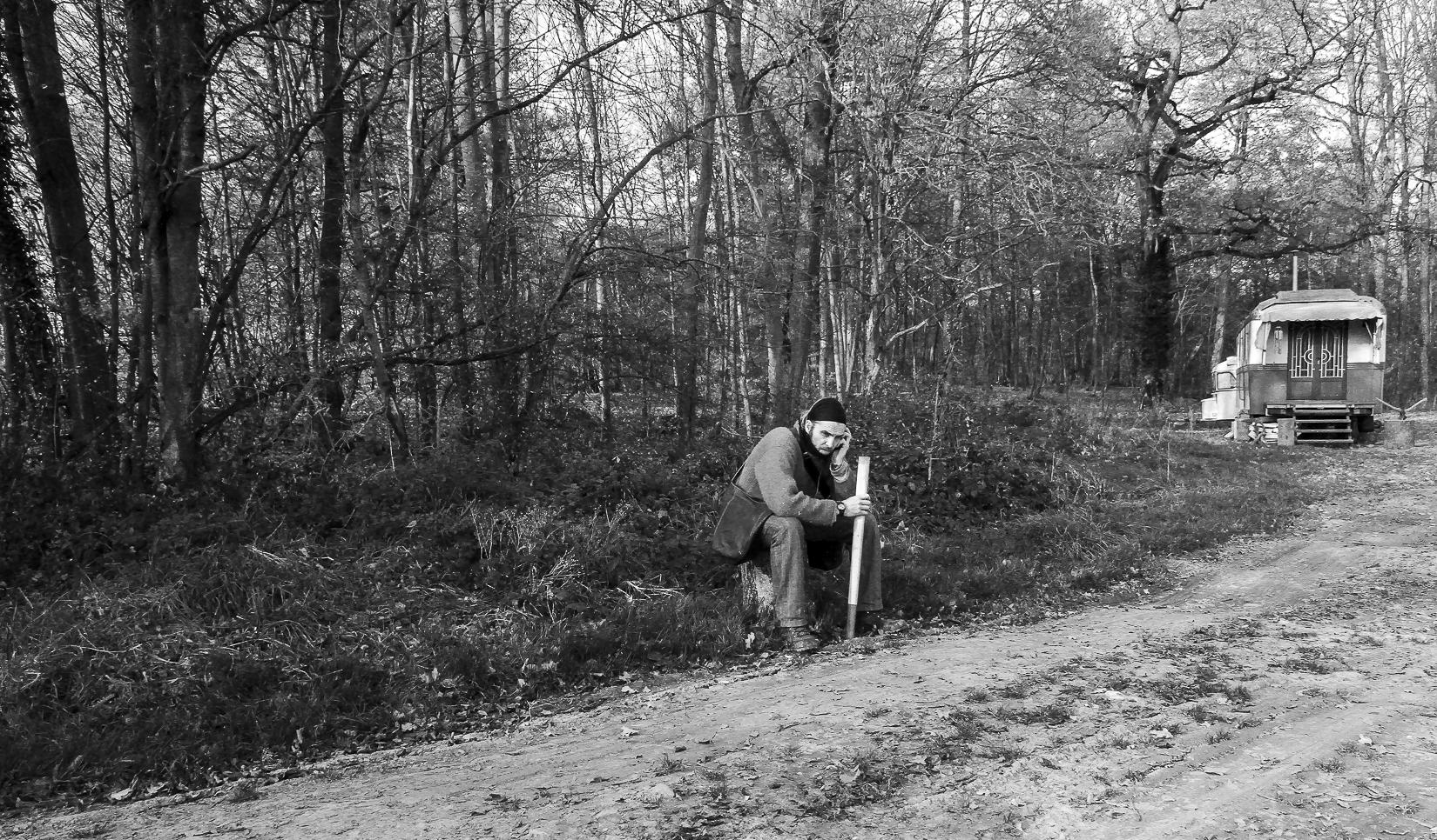 Vivre dans une roulotte, au milieu des bois, sans eau courante ni électricité... Belgique, 2012