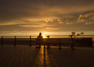 Au soleil couchant, Ostende, Belgique