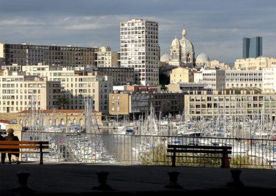 L'amour sur un banc, Marseille, France